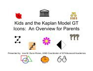 Kid d th K l M d l GT Kids and the Kaplan Model GT Icons: An ...