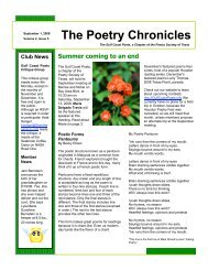 The Poetry Chronicles - Sol Magazine