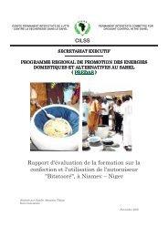 Rapport d'évaluation autocuiseur Bitatooré - CILSS