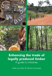 Enhancing the trade of legally produced timber - International ...