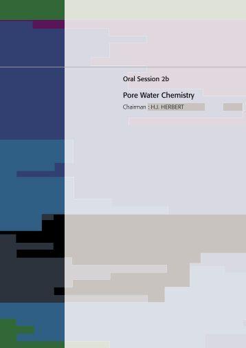 02B - PORE WATER CHEMISTRY - Andra