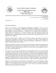 Dignity for All Students Act (DASA) Parent Letter - Levittown Public ...