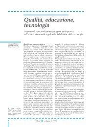 Qualità, educazione, tecnologia - TD Tecnologie Didattiche - Cnr