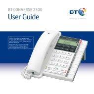 BT CONVERSE 2300 User Guide - Telephones Online