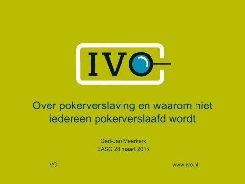 Gert-Jan Meerkerk (IVO)