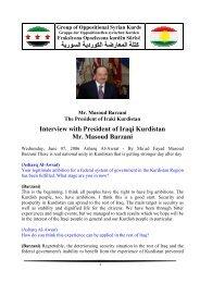 Interview with President of Iraqi Kurdistan