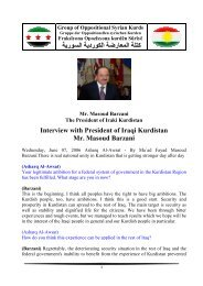 Interview with President of Iraqi Kurdistan