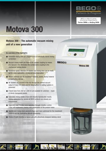 Motova 300 Brochure - Bego USA