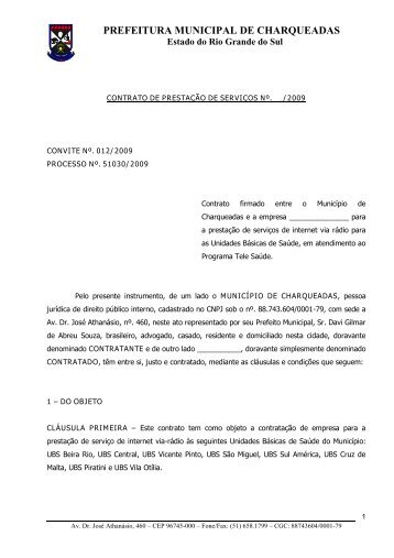 Minuta do Contrato - Charqueadas.rs.gov.br