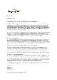 Persbericht LeasePlan opent tweede Service Center ... - PressPage