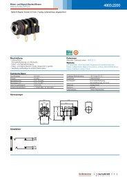 4803.2200 - Daten- und Signal-Stecker/Dosen - Schurter