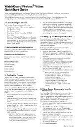 WatchGuard Firebox Vclass QuickStart Guide