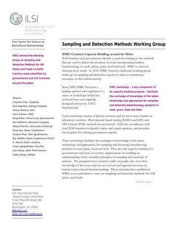 Sampling and Detection Methods Working Group - International Life ...