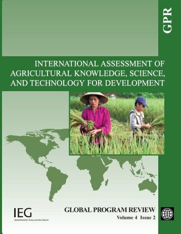 International Assessment of Agricultural Knowledge, Science and ...