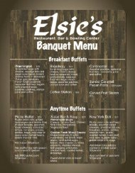 Banquet & Catering Menu