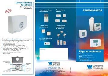 Triptico termostatos - Watts Industries