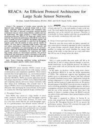 REACA: An Efficient Protocol Architecture for Large Scale Sensor ...