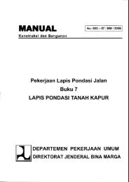 MANUAL - Departemen Pekerjaan Umum