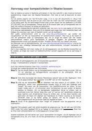 Aanvraag voor kampactiviteiten in Waalse bossen - KSJ - KSA - Vksj