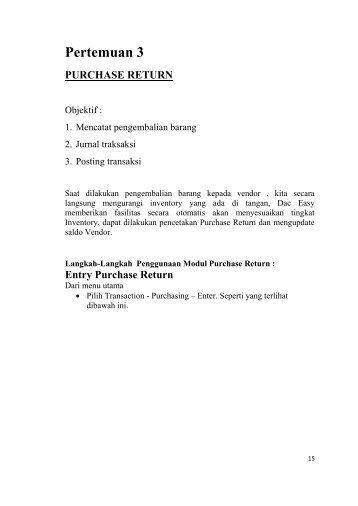 Jurnal Purchase Return - iLab