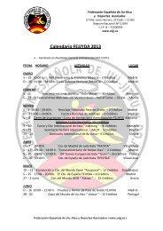 Calendario FEAJJYDA 2013 - Federación Española A. de Jiu Jitsu y ...