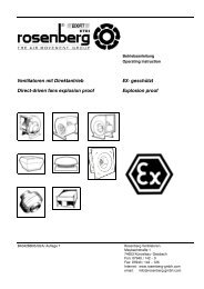 Ventilatoren mit Direktantrieb EX- geschützt Direct ... - Rosenberg