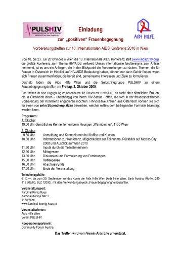 Einladung Frauenbegegnung W.St. - Netzwerks Frauen & Aids