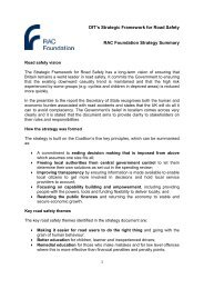 DfT's Strategic Framework for Road Safety RAC Foundation Strategy ...