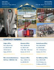CONTACT TUNDRA - Tundra Process Solutions Ltd.