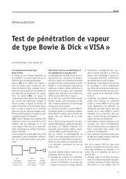 Test de pénétration de vapeur de type Bowie & Dick «VISA»