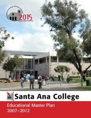 Educational Master Plan 2007 - Santa Ana College