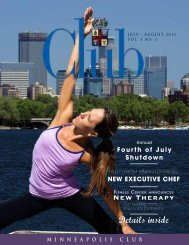 July - Minneapolis Club