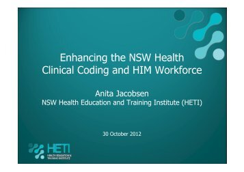 Enhancing the NSW Health Clinical Coding and HIM Workforce