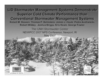 LID Stormwater Management Systems Demonstrate ... - NEIWPCC