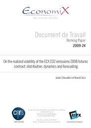 Document de Travail - EconomiX