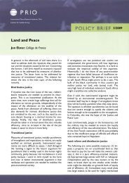 Land and Peace - PRIO