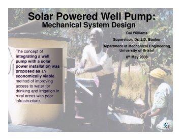 Solar Powered Well Pump: Mechanical System Design
