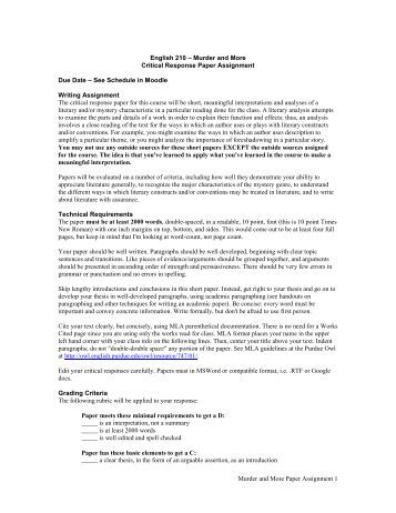 term paper requirements Institute for strategy, technology and organization formal requirements for term papers and final theses as of october 2012.