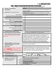 PINS: PROJECT INITIATION NOTIFICATION SYSTEM FORM (Rev ...