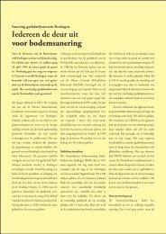 © Jan van den Noort, Iedereen de deur uit voor bodemsanering ...