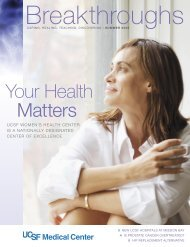 Your Health Matters - UCSF Medical Center