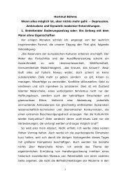 1 Hartmut Böhme Wenn alles möglich ist, aber nichts mehr geht ...