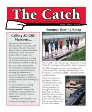 The Catch - Genesee Rowing Club