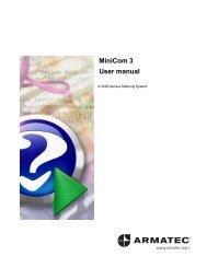 MiniCom 3 User manual - Armatec