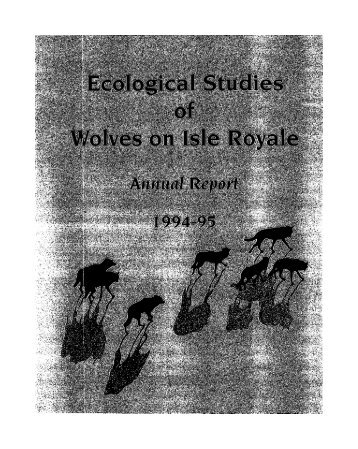 o - The Wolves and Moose of Isle Royale