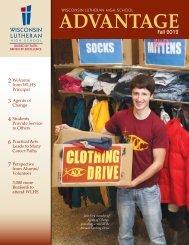 The Wisco Advantage - Wisconsin Lutheran High School