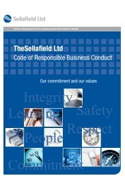 Code of Responsible Business Conduct - Suppliers - Sellafield Ltd