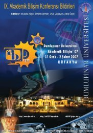 07 31 Ocak - 2 Şubat 2007 Kütahya - Akademik Bilişim Konferansları