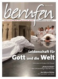 Leidenschaft für Gott und die Welt - Ständiges Diakonat im Bistum ...