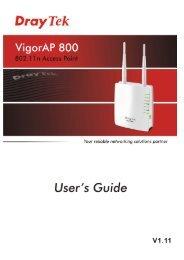 VigorAP 800 User's Guide i - FTP - Draytek